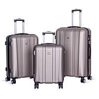 Набор чемоданов David Jones BA-1028-3B 3 шт. золотые, фото 1