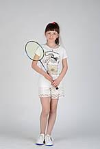 Детская футболка для девочки Artigli Италия A06343 Белый