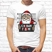 """Мужская футболка Push IT с новогодним принтом """"C Новым Годом!"""""""