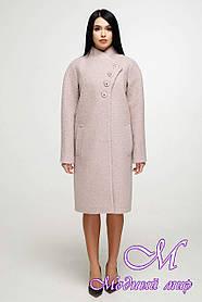 Женское демисезонное пальто большого размера (р. 44-58) арт. 1142 Тон 21
