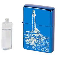 Подарочный набор: бензиновая зажигалка с лазерной гравировкой и бензин ZB10153, фото 1