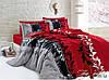 Постельное белье Евро комплект , хлопок 100% Ранфорс R7085 red