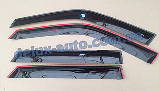 Ветровики Cobra Tuning на авто Jaquar S-type Sd 1998-2008 Дефлекторы окон Кобра для Ягуар С-Тайп седан 1998