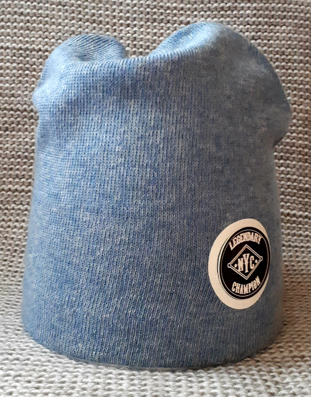 Шапка  на мальчика весна-осень голубого цвета ANPA (Польша) размер 48 50