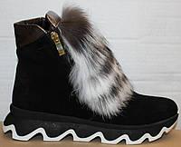 Ботинки молодежные женские с натуральным мехом от производителя модель УН433-1, фото 1