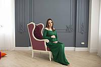 671002 Вечерние платья для беременных зеленое L
