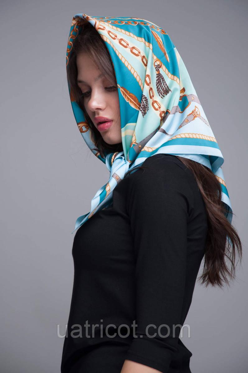 Платок-каре KIFA принт Chains Bleu