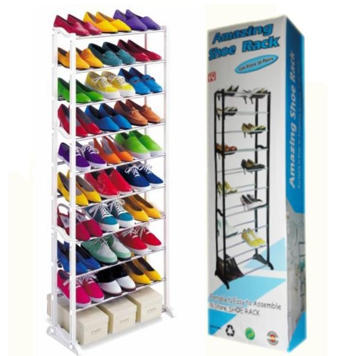 Полка для обуви Amazing Shoe Rack на 30 пар, модульный органайзер стойка для хранения обуви