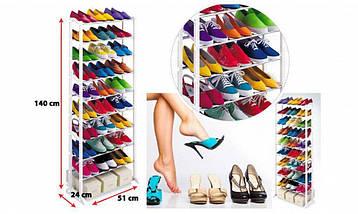 Полка для обуви Amazing Shoe Rack на 30 пар, модульный органайзер стойка для хранения обуви, фото 2