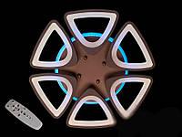 Потолочная LED люстра с димером и подсветкой 120W