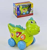 Динозаврик 6105, ездит, говорит на английском языке, проигрывает мелодии и звуки, с подсветкой - 154771