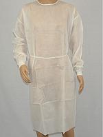 Халат на зав'язках з манжетами (спанбонд) Білий (10шт/уп)