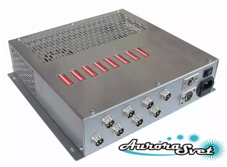 БУС-3-08-450MW блок управления светодиодными светильниками, кол-во драйверов - 8, мощность 450W.