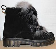 Ботинки зимние женские с натуральным мехом от производителя модель УН500-1, фото 1