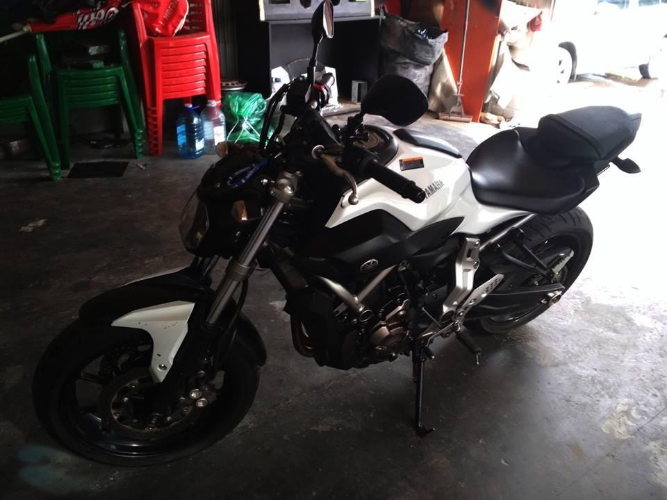 Защита мотоцыкла от угона Yamaha Mt 07