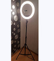 Лампа кольцевая LED лампа для визажистов, фотографов, блогеров, бровистов напольнаяYRE SY-D240C 24W с штативом