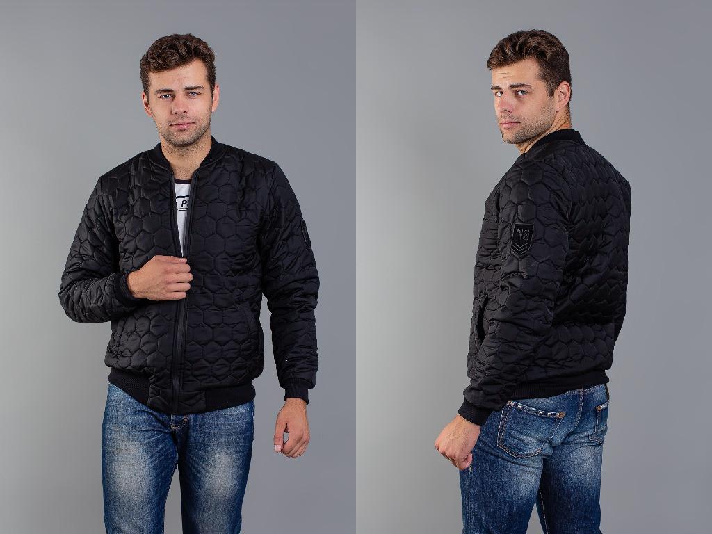 Стильная осенняя куртка мужская -бомбер 46 48 50 52р.