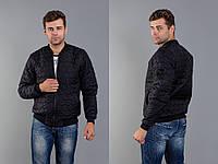 Стильная осенняя куртка мужская -бомбер 46 48 50 52р., фото 1