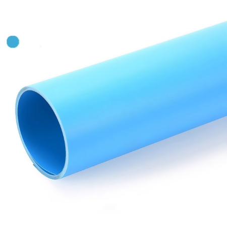 Голубой матовый ПВХ (виниловый) фон Puluz для предметной фото и видео съемки 200 х 120 см.