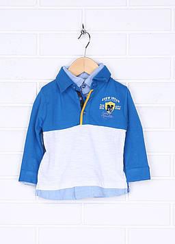 Поло Prenatal 18-24 month (89 cm) синий (S623TS681JJ00H_Blue2)