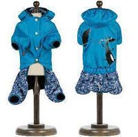 Дождевик для собаки Pet Fashion Клайд XS-2, Длина спины 26-28,  грудь 32-38. голубой. Универсал