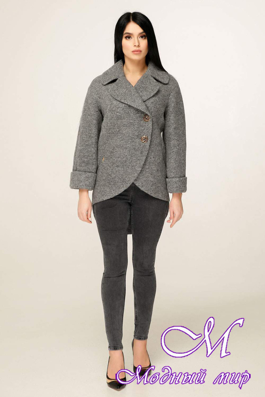Женское короткое пальто весна-осень (р. 44-54) арт. 1183 Тон 10