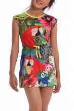 Детское платье для девочки Desigual Испания 42V3085 Зеленый