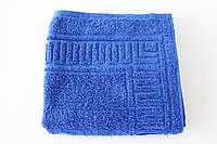 Махровое полотенце Mahrof Store для лица  50х90см синее