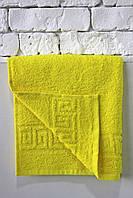 Махровое полотенце Mahrof Store  50х90см лимонное