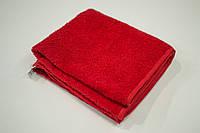 Махровое полотенце Mahrof Store для лица 50х90см красное