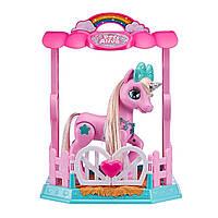 Pets Alive Интерактивный волшебный единорог в стойле розовый 9502P My Magical Unicorn and Stable Playset