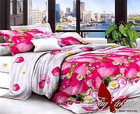 Комплект постельного белья семейный с 2-мя пододеяльниками Поликоттон TAG XHY2155