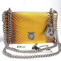 Сумка Dior жёлтая рептилия