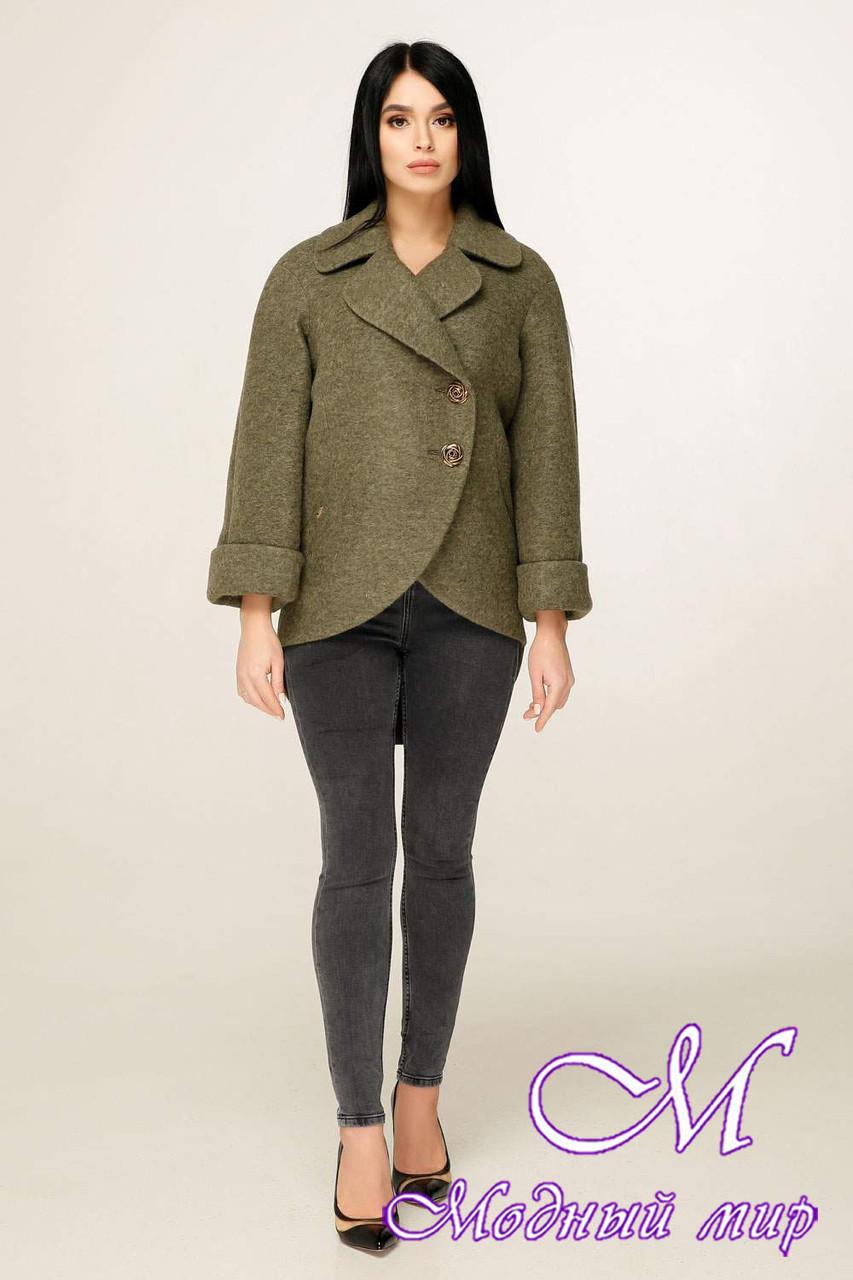 Женское демисезонное пальто короткое (р. 44-54) арт. 1183 Тон 82