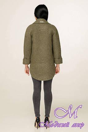 Женское демисезонное пальто короткое (р. 44-54) арт. 1183 Тон 82, фото 2