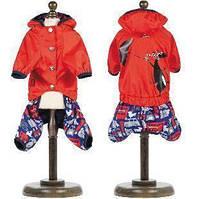 Дождевик для собаки Pet Fashion Клайд XS, Длина спины 23-26 см, обхват груди 28-32 см. красный. Универсальный