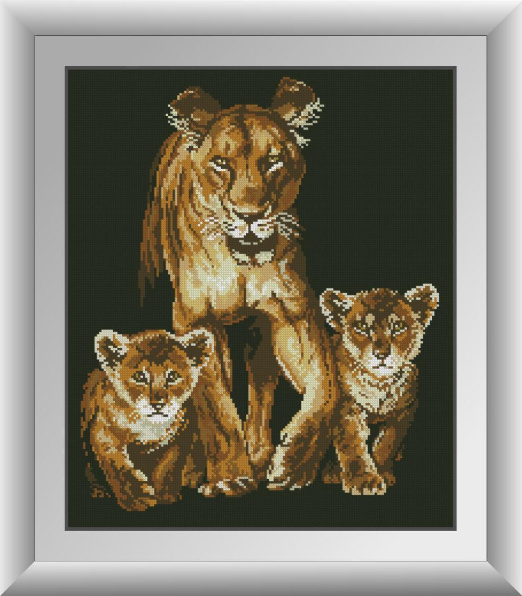 Алмазная живопись Семейная прогулка Dream Art 30864 (42 x 50 см)