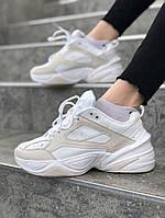 Женские весенние кроссовки в стиле Nike M2K Tekno (White/Milk), Реплика ААА