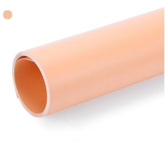 Оранжевий матовий ПВХ (вініловий) фон Puluz для предметної фото та відео зйомки 200 х 120 див.