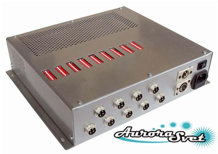 БУС-3-09-450MW блок управления светодиодными светильниками, кол-во драйверов - 9, мощность 450W.
