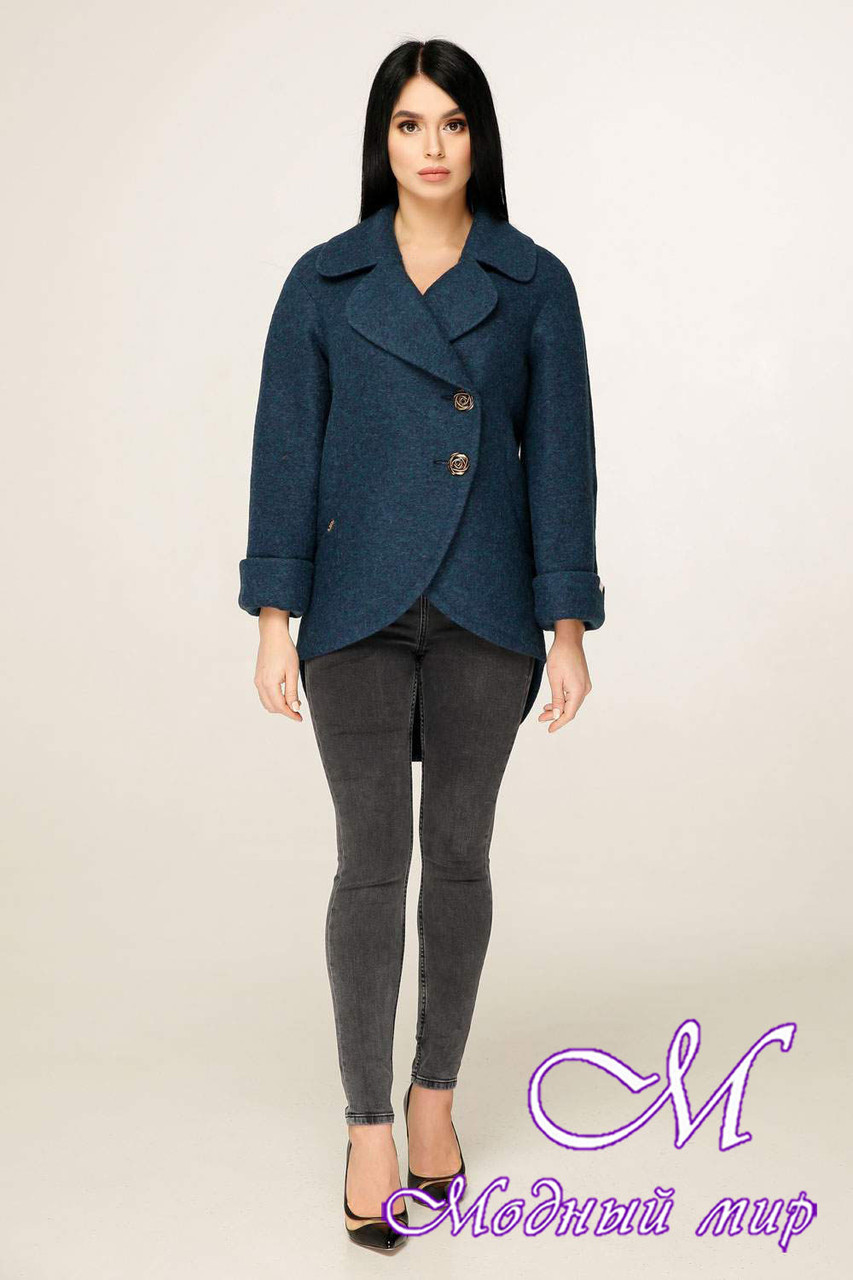 Женское короткое пальто демисезонное (р. 44-54) арт. 1183 Тон 108