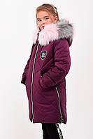 Зимнее пальто для девочек рост 107-140