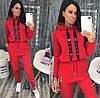 Женский спортивный костюм весна-осень Камни (42-44, 44-46, 46-48) (цвет красный) СП