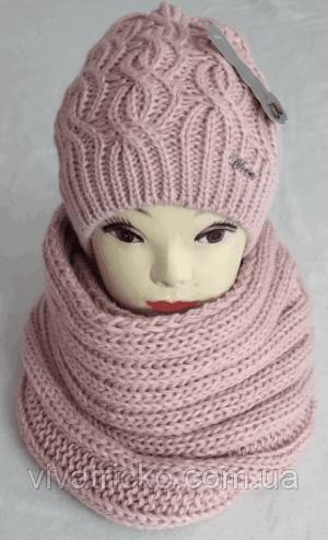 М 6115 Комплект шапка+хомут, марс, фліс