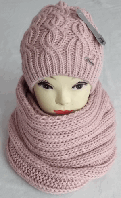 М 6115 Комплект шапка+хомут, марс, фліс, фото 1
