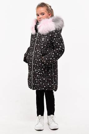 Зимнее пальто для девочек рост 107-128, фото 2