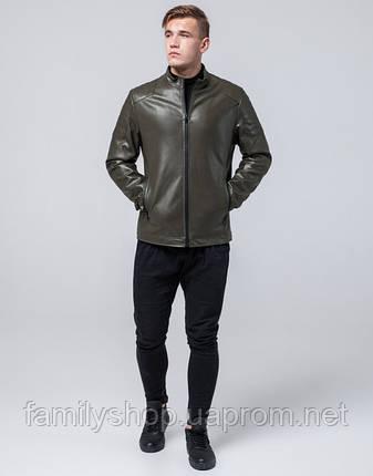 Braggart Youth | Куртка экокожа 4129 хаки, фото 2