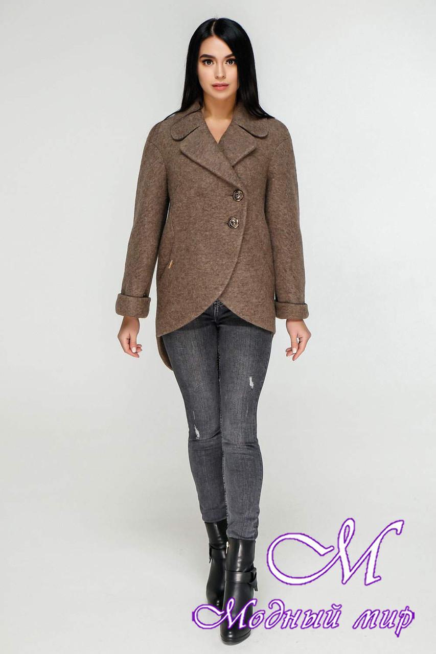 Женское коричневое пальто весна-осень (р. 44-54) арт. 1183 Тон 145