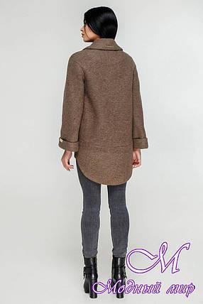 Женское коричневое пальто весна-осень (р. 44-54) арт. 1183 Тон 145, фото 2