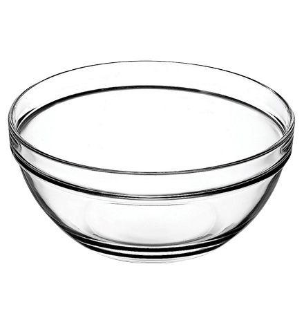 Chefs (1шт) салатник стеклянный, 20 см